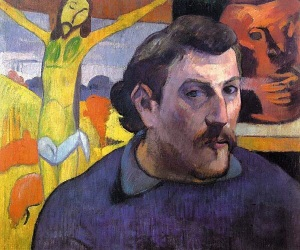 Self Portrait with Yellow Christ - Paul Gauguin
