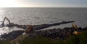 Coastal works progress - cf Edward Burra painting below....