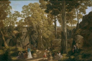 At The Hanging Rock (1875) - William Ford